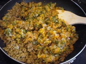 キーマカレーの作り方「野菜を戻す」