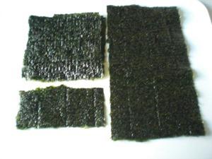 デコ巻きの作り方「海苔を切る」